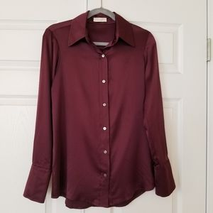 Ramy Brook Button Up Silk Blouse Kristie M